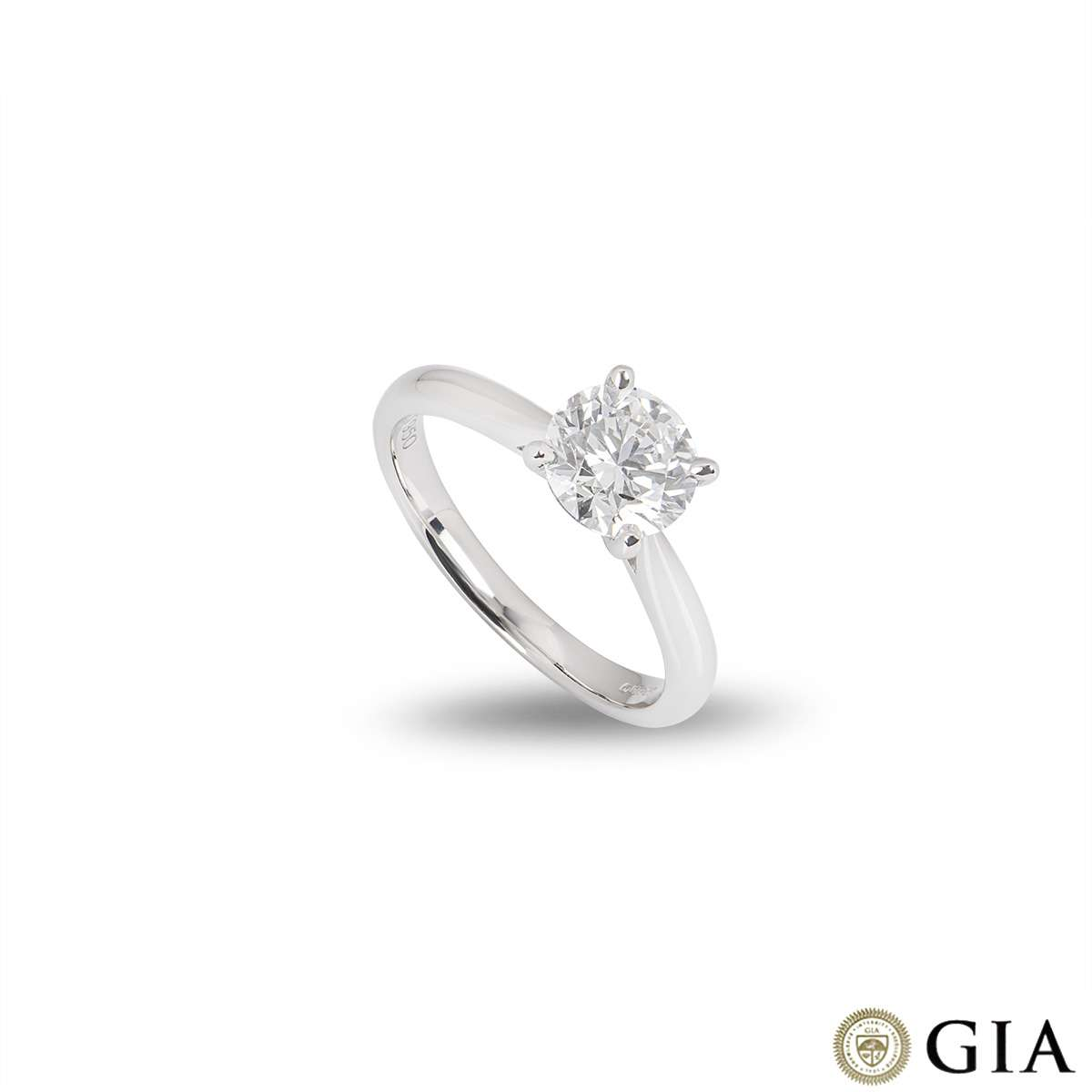 Platinum Round Brilliant Cut Diamond Ring 1.40ct G/VS1 XXX